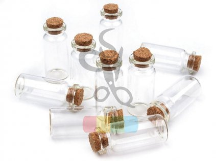 Skleněná lahvička s korkem 20 x 50 mm