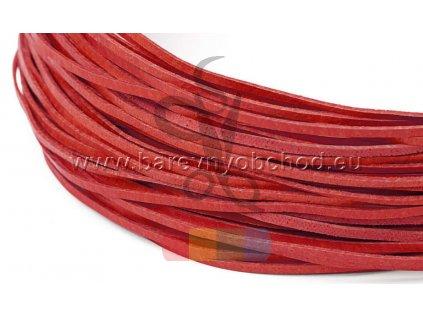 plochý kožený řemínek 2 mm - různé barvy