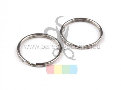 kroužek 20 mm - stříbrný