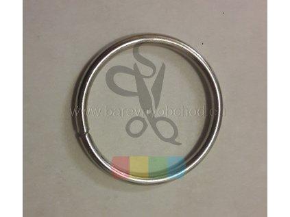 kroužek 43 mm - stříbrný