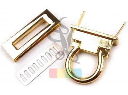 zapínání na kabelku 17x45 mm zlaté