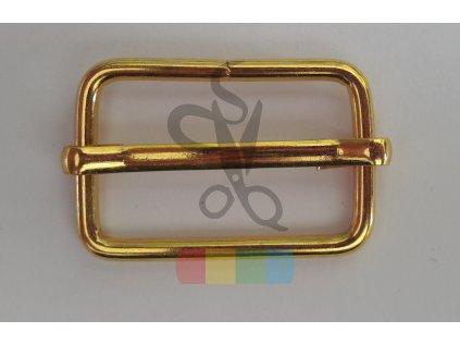 zkracovač kovový na popruhy 25 x 15 mm - zlatý