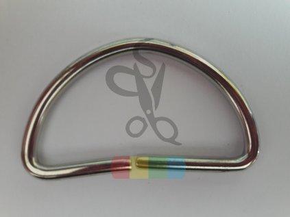 polokroužek 40 mm - stříbrný