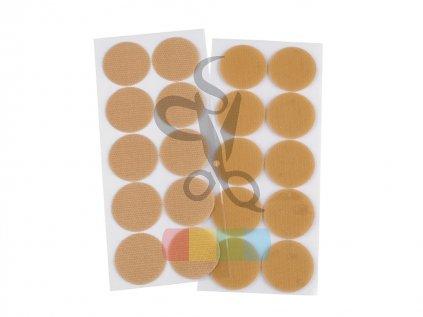 samolepicí kolečka 25 mm barva bílá