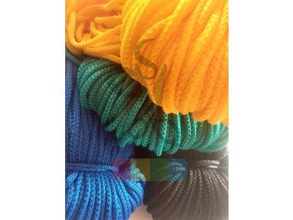 polypropylenová šňůra, průměr  5mm - různé barvy