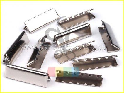zakončení kovové 30 mm, barva stříbrná