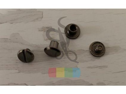opaskový šroubek 6 mm - černý nikl