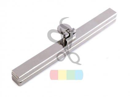 rámeček na výrobu kabelky 1 x 12 cm vkládací - stříbrný