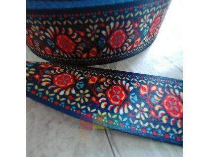 popruh polyesterový  5 cm, vzor pampelišky