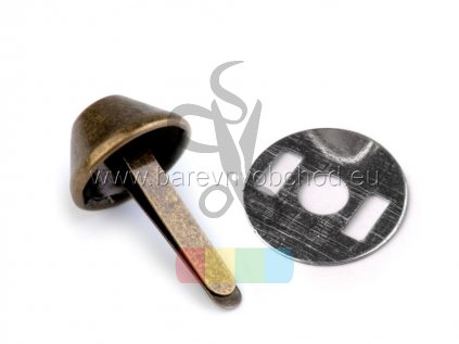 hřeb dvounožkový (nožky ke kabelce) větší - mosaz