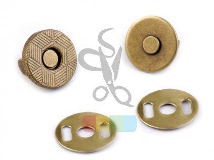 magnetické zapínání průměr 10 mm mosazné