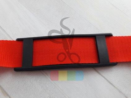 plastový nárameník pro popruh 4 cm - černý