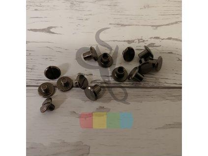 opaskový šroubek 5 mm - černý nikl