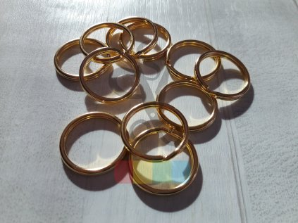 kroužek klíčový 20 mm - zlatý