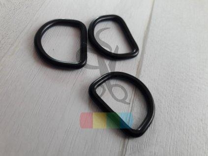 černý kov - polokroužek 20 mm