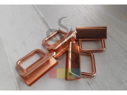 koncovka na klíčenku s kroužkem - růžové zlato - 25 mm