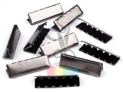 zakončení kovové 40 mm, barva černý nikl