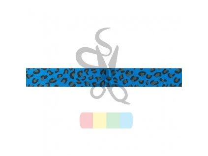 lemovka založená - imitace kůže - 20 mm - modrý panter