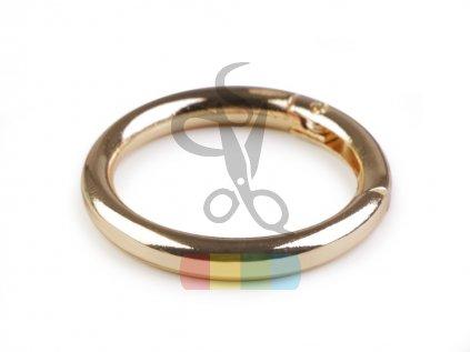 kroužek na klíče či kabelky 34 mm - zlatý