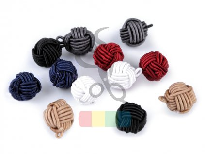 knoflík uzlový 10 mm - různé barvy
