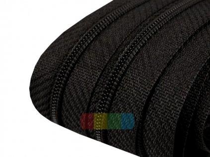 zip spirálový v metráži 3 mm černý