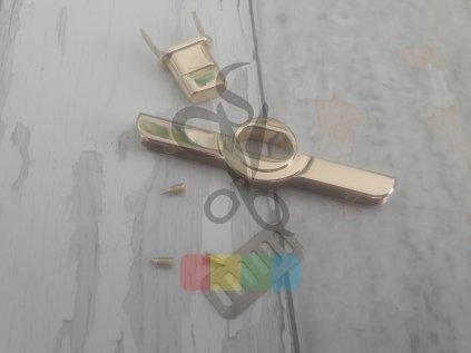 zapínání na tašku 20 x 73 mm zlaté