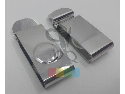 opaskový klip na pouzdro - 26 mm - stříbrný