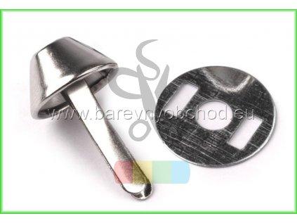 hřeb dvounožkový (nožky ke kabelce) - stříbrný