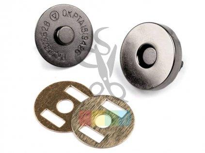 magnetické zapínání průměr 18mm - černý nikl