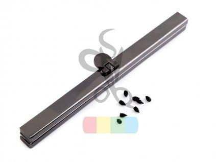 rámeček na výrobu kabelky 1 x 15 cm vkládací - černý nikl