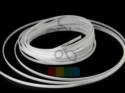 plastová kostice pro vyplnění paspulky - bílá, šíře 6 mm