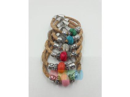 náramek s keramickou perlou - různé barvy