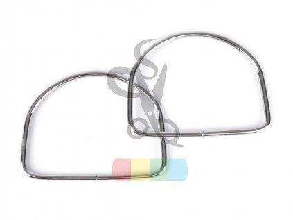 kovová ucha na tašky  - 10,5x13 cm - stříbrné