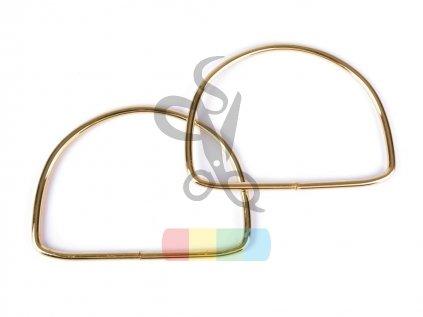 kovová ucha na tašky  - 10,5x13 cm - zlaté