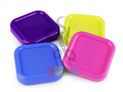 magnetická miska na špendlíky - čtverec - různé barvy