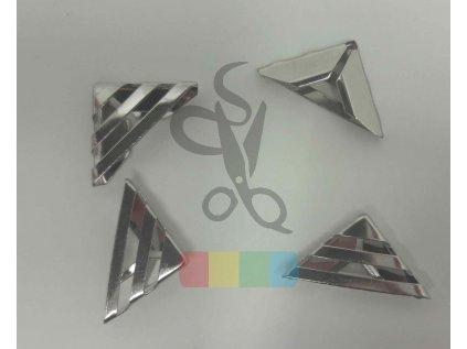 rožek kovový - proužky 16 x 16 mm - stříbrný