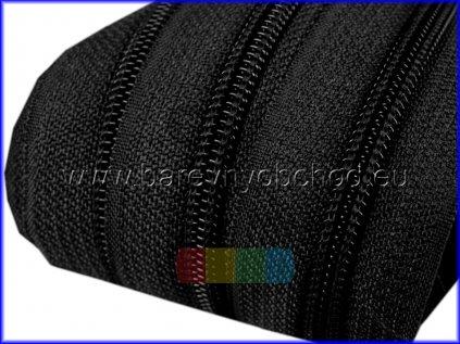 Zip spirálový 5 mm metráž  - různé barvy
