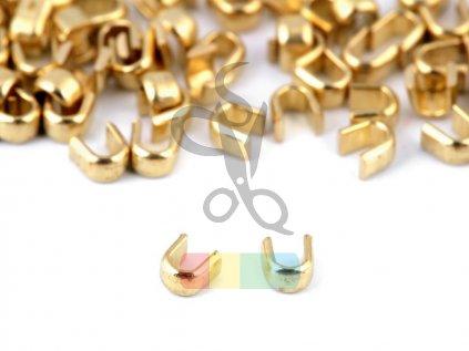 koncovka na zip 3 mm horní - balení 10 ks - zlatá