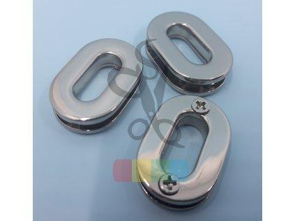 průchodka šroubovací oválná 16 mm  - stříbrná