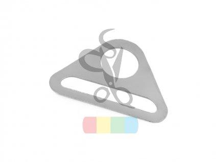 trojúhelník šíře 40 mm  - stříbrný