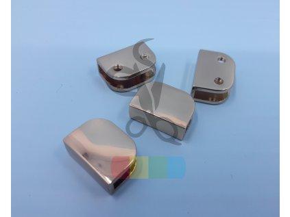 zakončení kovové šroubovací 17 mm, zlaté