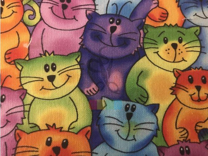 bavlněná látka - kluci kočičí