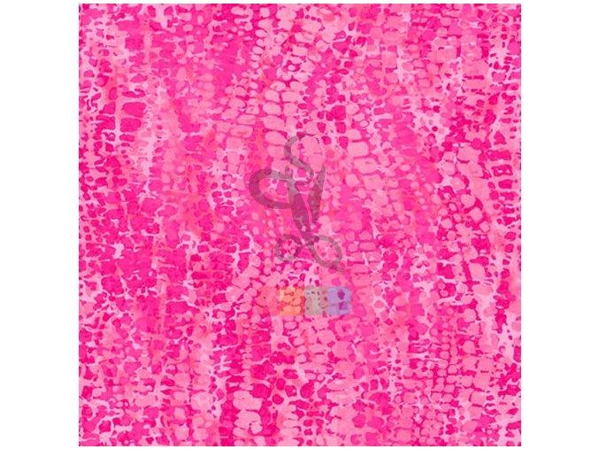 bavlněná látka - Chameleon - růžová