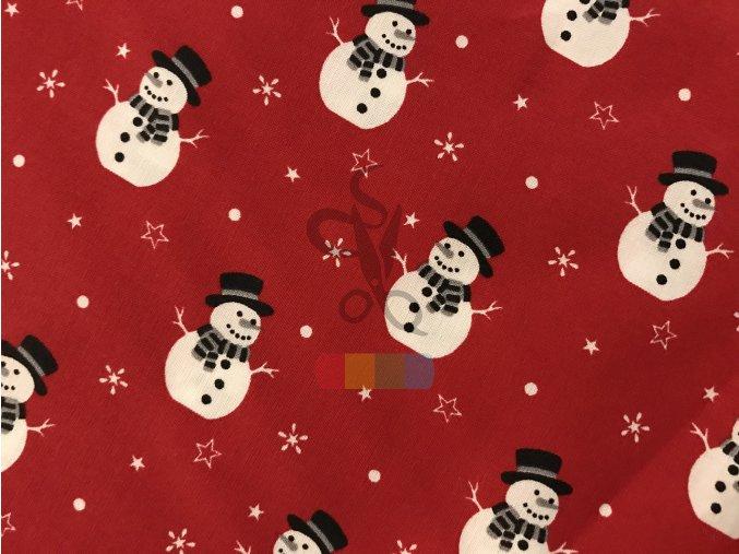 bavlněná látka - sněhuláci
