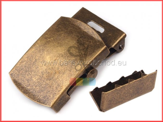 kovová spona na opasek 30mm - starmosaz