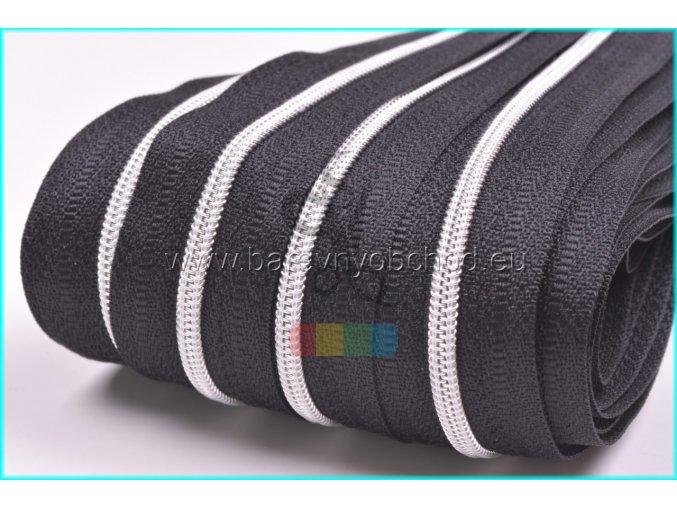 zip spiralovy metraz gs 3mm stribrny