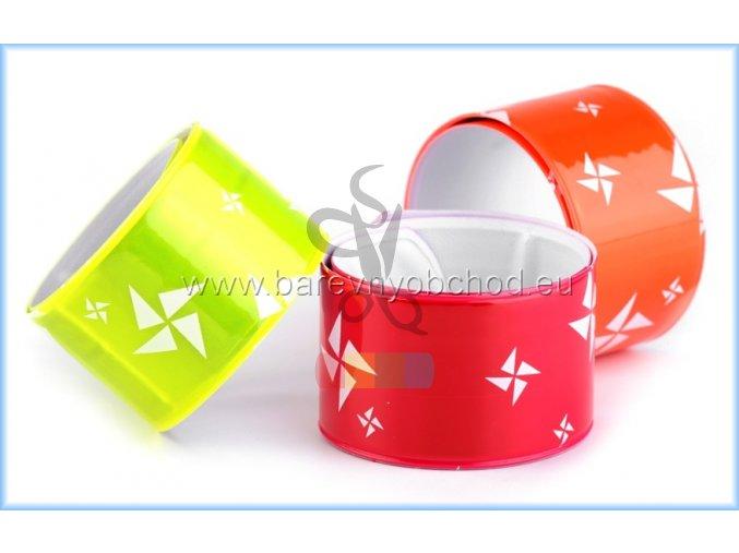 reflexní páska samonavíjecí 3x30 cm - různé barvy