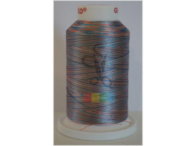 vyšívací nit multicolor č.2206 - 1000 m