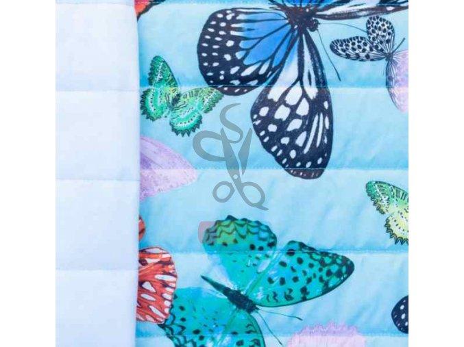 prošev - motýli světle modrá