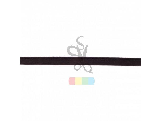 paspulka semišová - černá